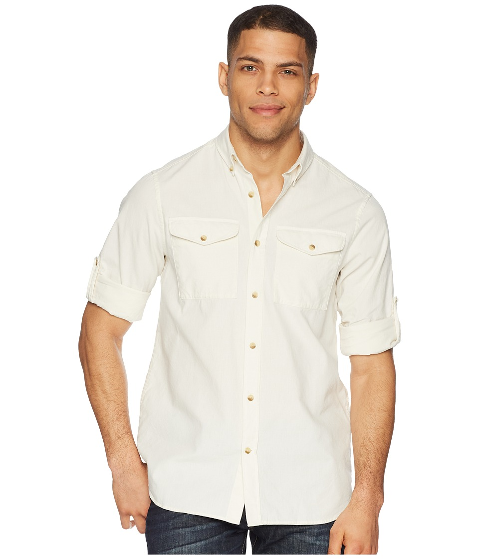 Fjallraven - Ovik Chambray Shirt (Chalk White) Mens Long Sleeve Button Up