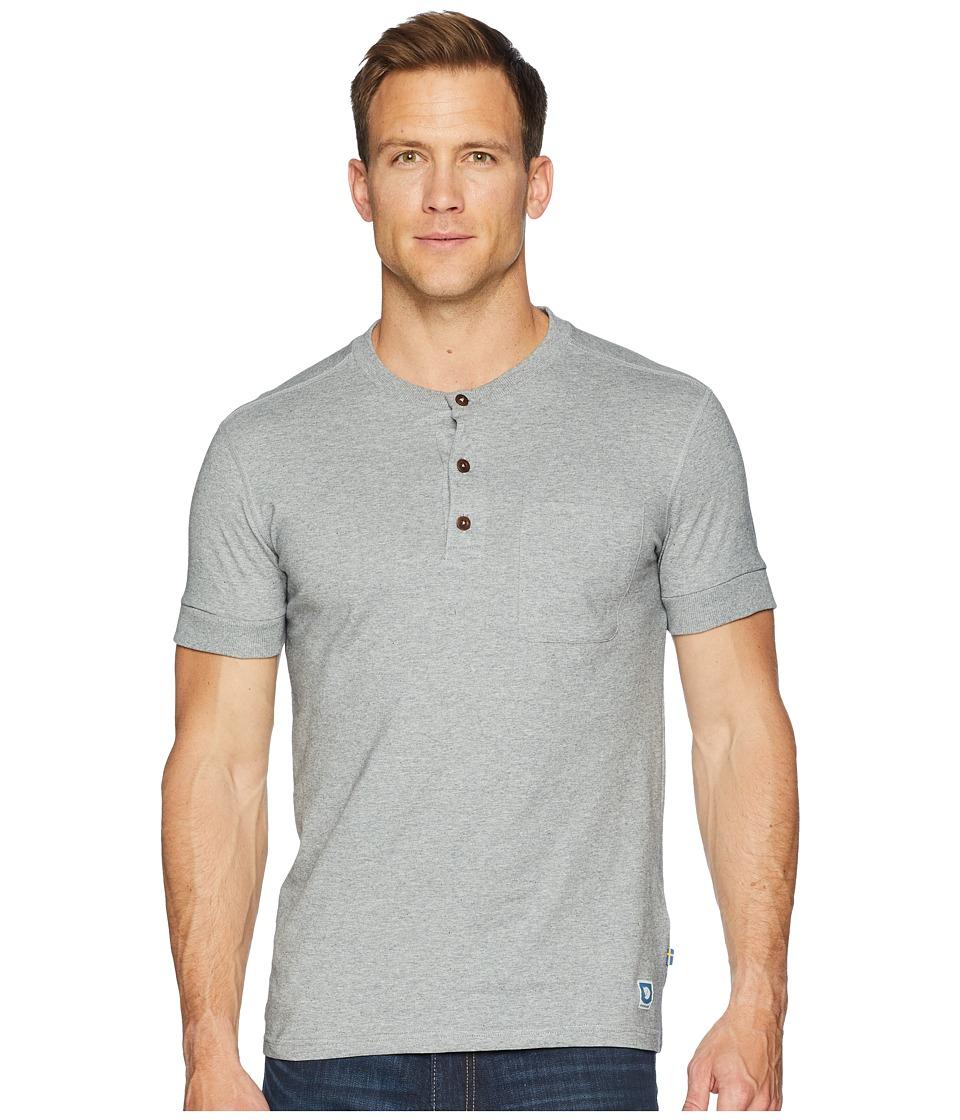 Fjallraven - Greenland Buttoned Short Sleeve (Grey) Mens Clothing