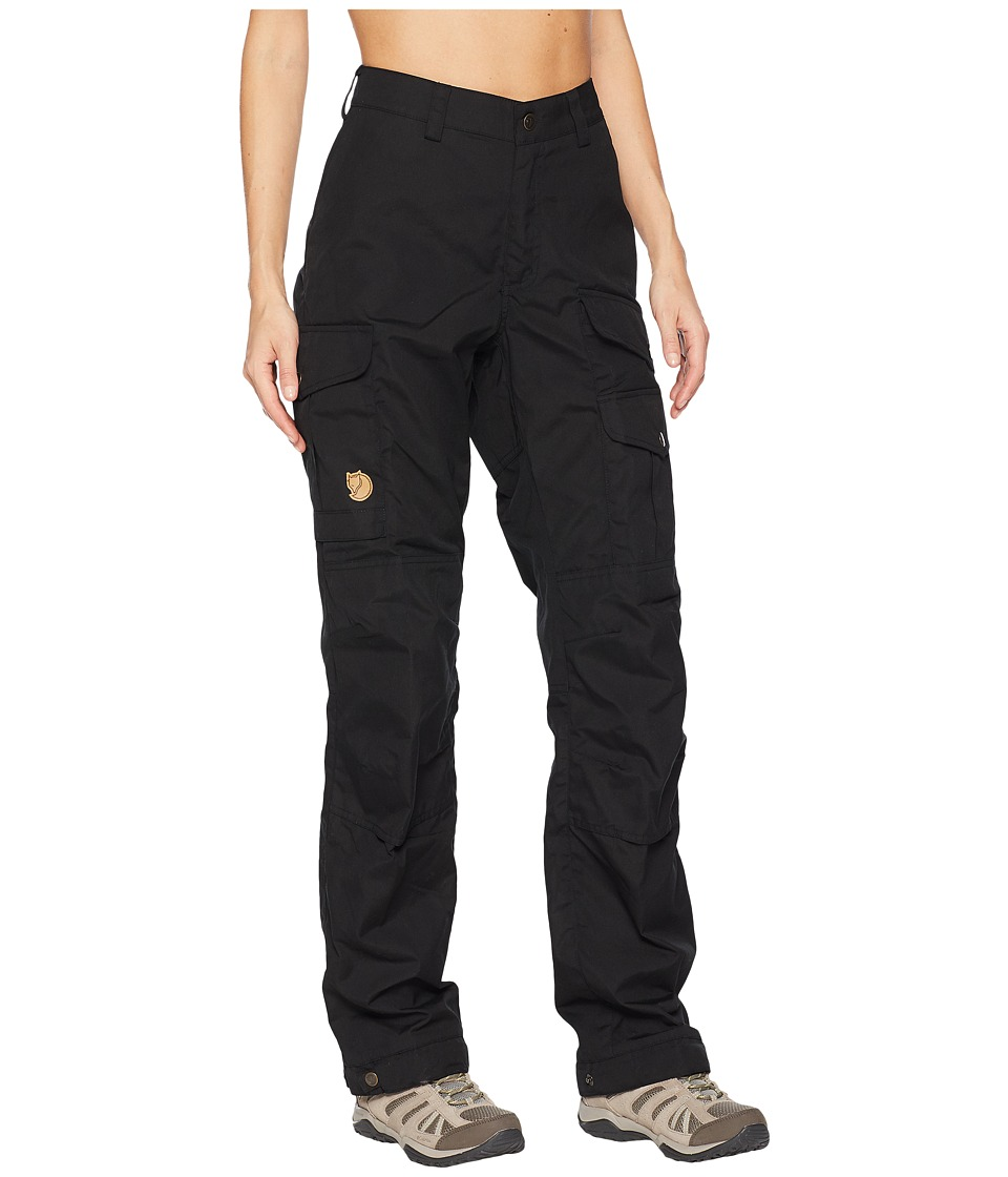 Fjallraven - Vidda Pro Trousers Curved (Black/Black) Womens Casual Pants