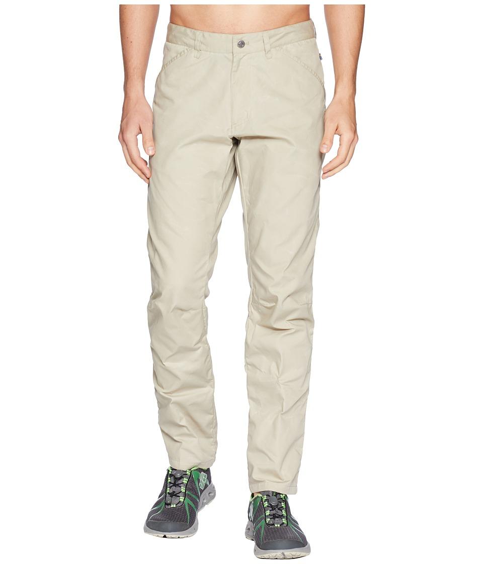 Fjallraven - High Coast Trousers (Limestone) Mens Casual Pants