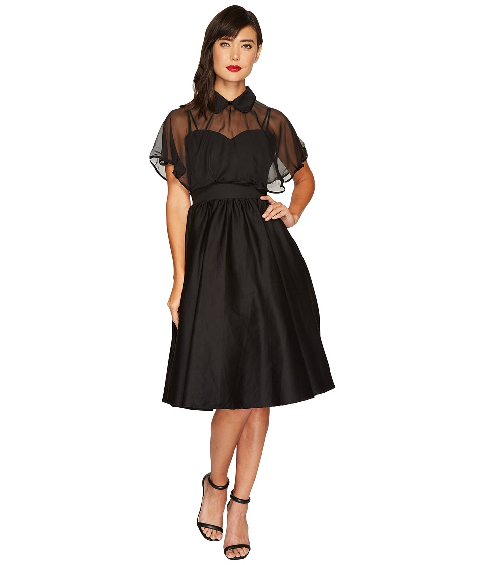 Unique Vintage Luna Swing Dress (Black) Women
