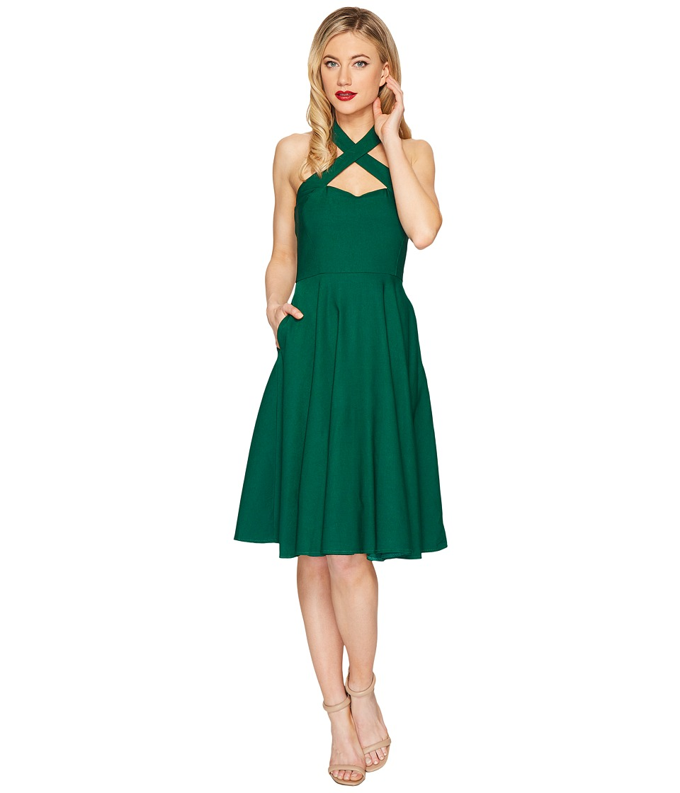 Unique Vintage Rita Flare Dress (Emerald) Women