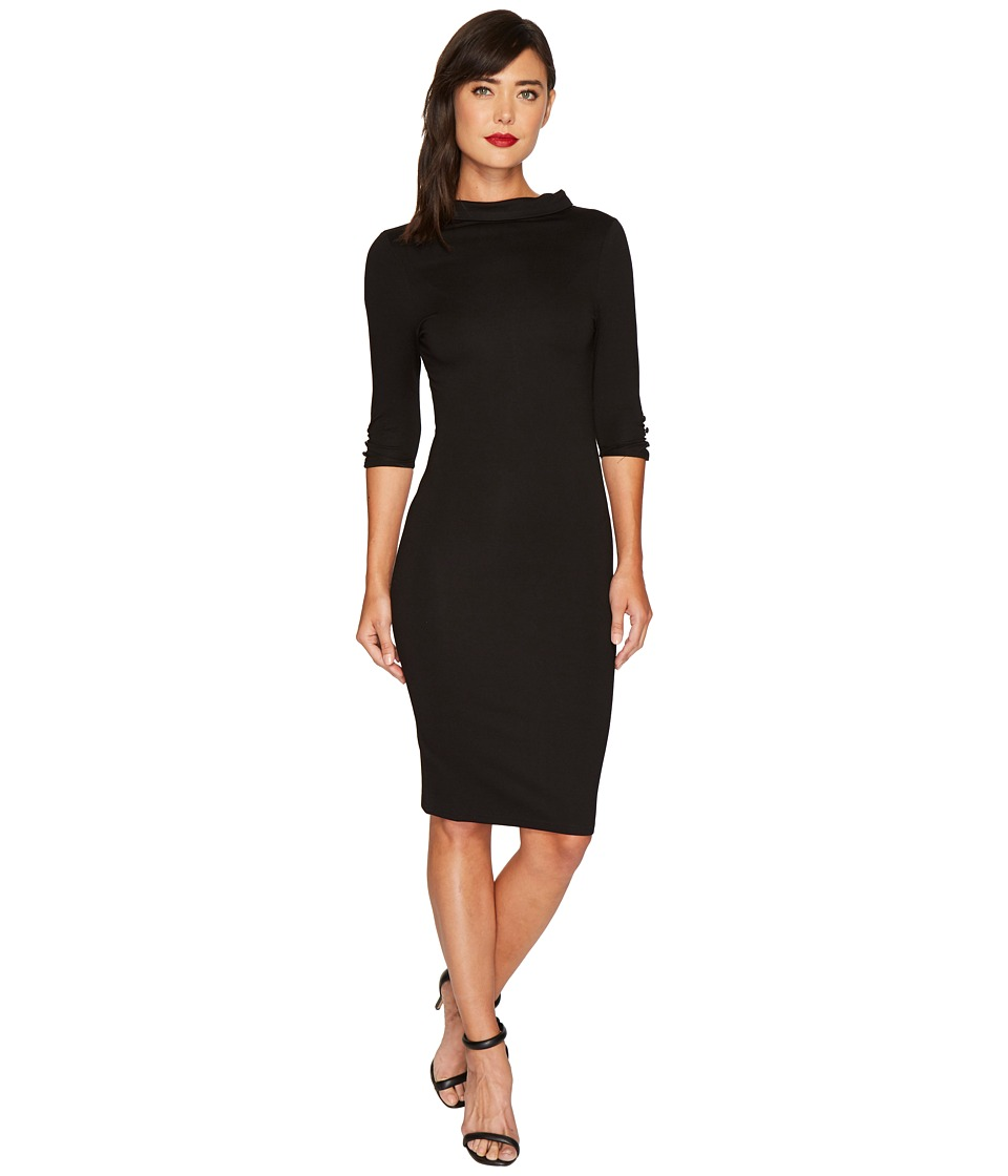 Unique Vintage Cassidy Wiggle Dress (Black) Women