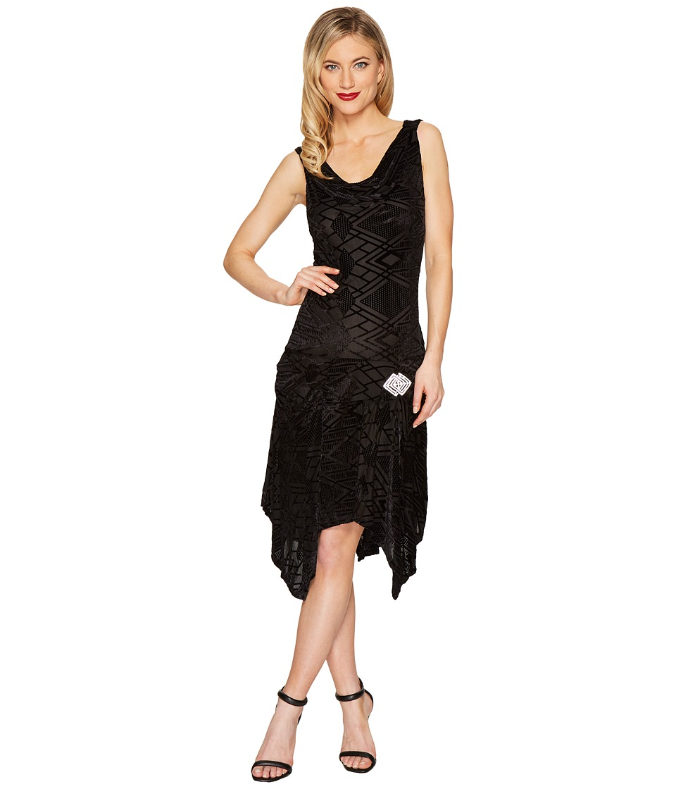 Unique Vintage Velma Flapper Dress (Black) Women