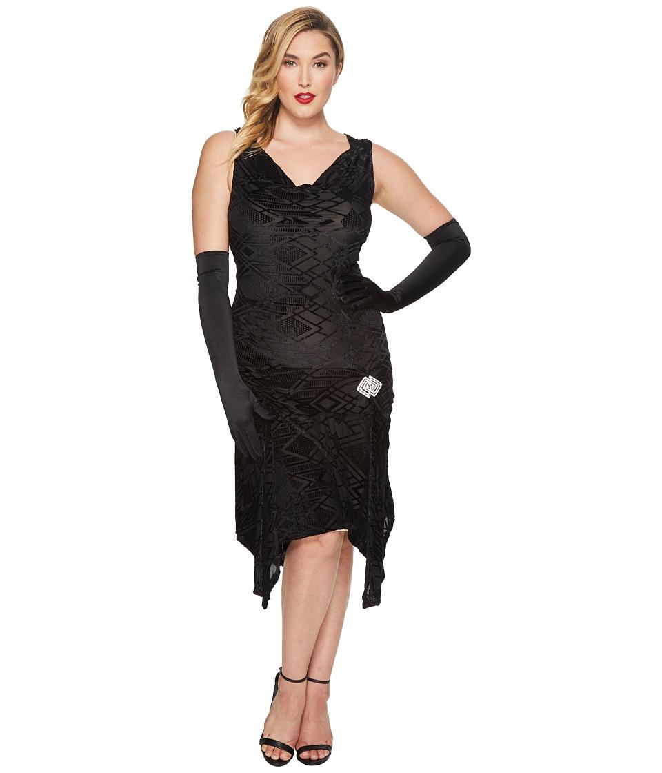 UniqueVintage Plus Size Velma Flapper Dress (Black) Women...