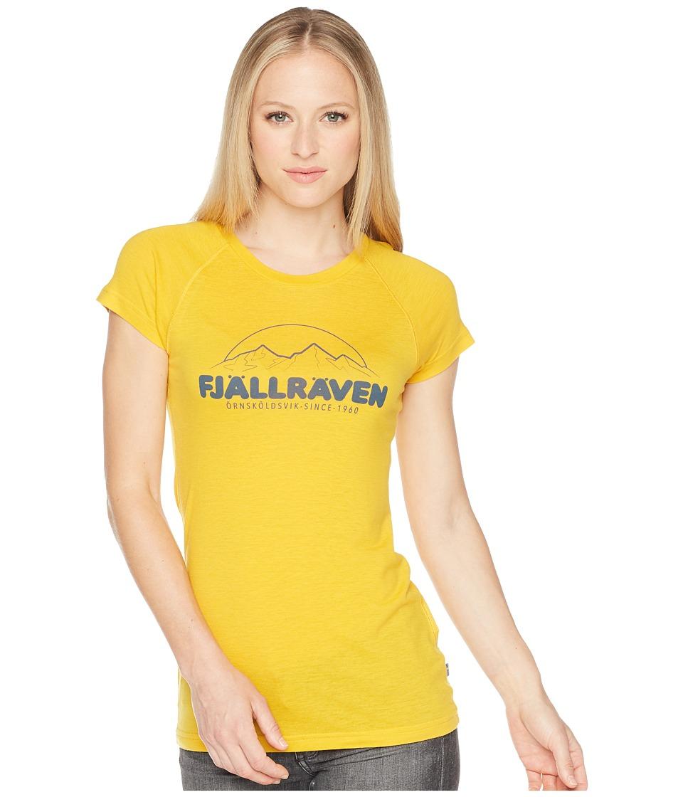 Fjallraven - Abisko Trail T-Shirt Print (Dandelion) Womens T Shirt