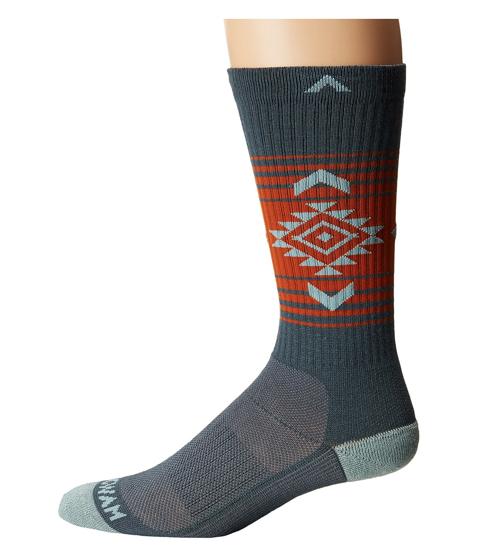 Wigwam - Jewels Route NXT (Dark Sand) Crew Cut Socks Shoes
