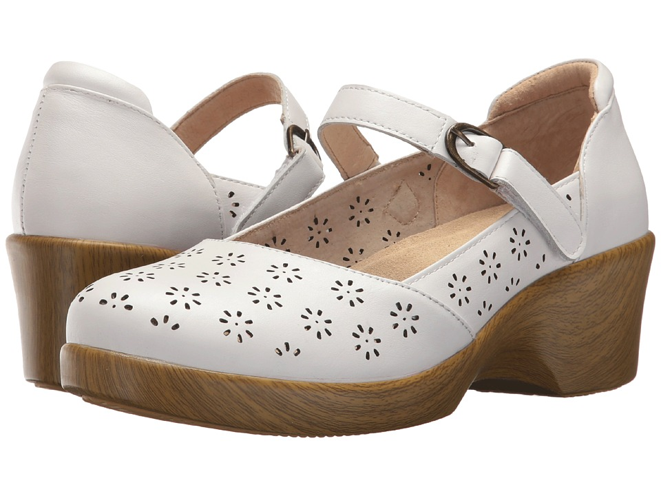 Alegria Rene (White Butter) Women's Wedge Shoes