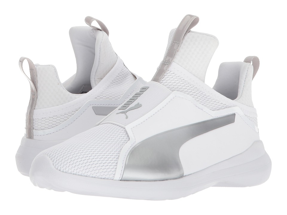 Puma Kids Fierce Core (Little Kid/Big Kid) (Puma White/Gray Violet) Girls Shoes