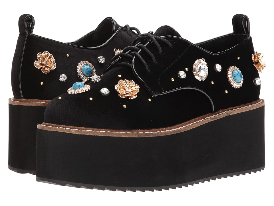 Shellys London - Flora platform oxford (Black) Womens Lace up casual Shoes