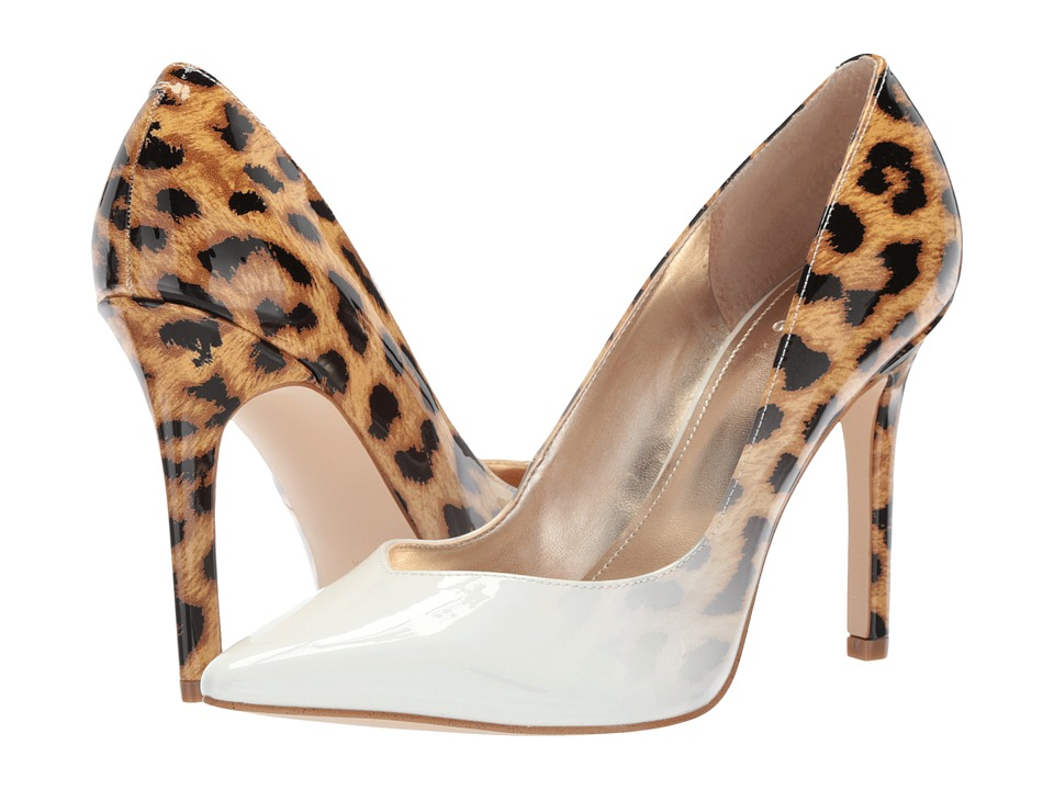 GUESS - Becool (White/Brown Multi/Gradient Leopard) Womens Shoes