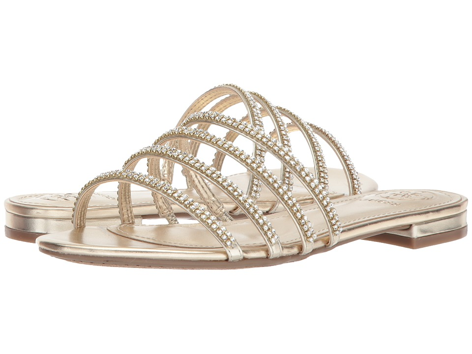 GUESS - Riley (Gold Synthetic) Womens  Shoes