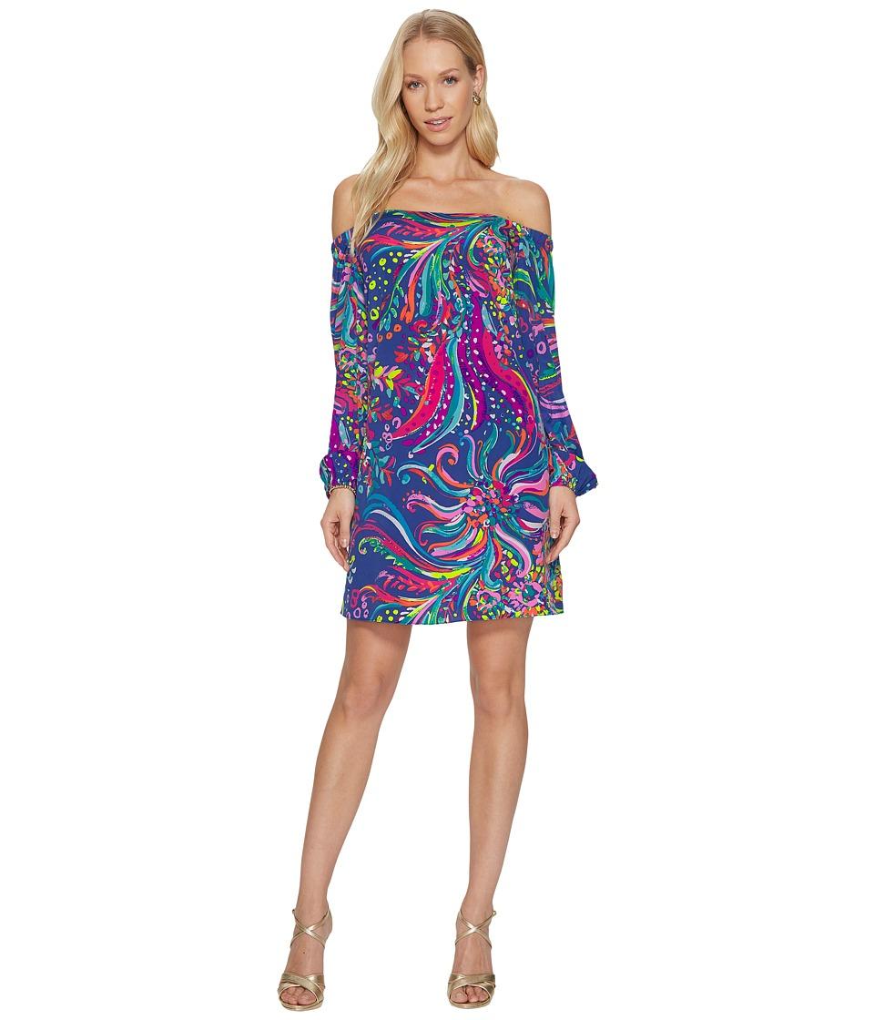 Lilly Pulitzer Adira Stretch Silk Dress (Multi) Women