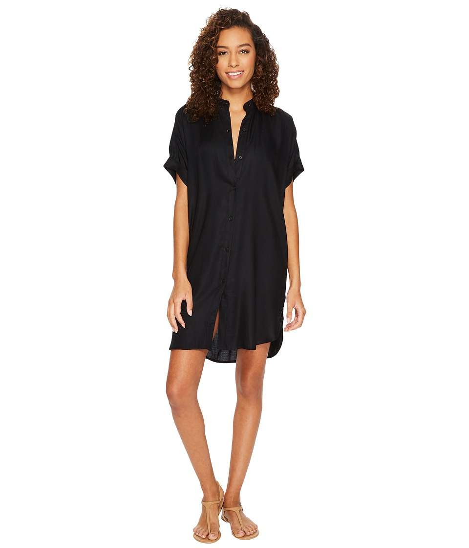 Echo Design Solid Shirtdress Cover-Up (Black)