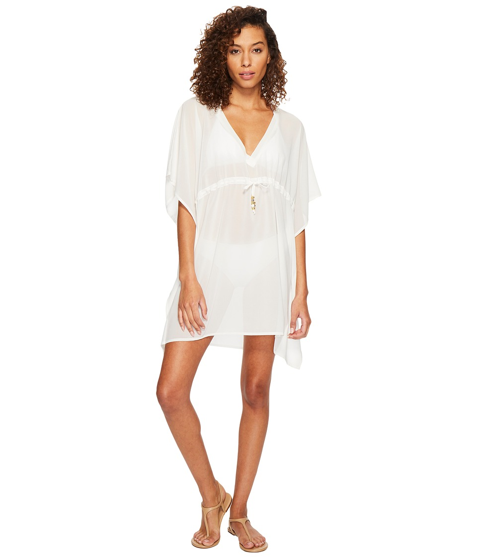 Echo Design Solid Silky Butterfly Swim Cover-Up (White) Women