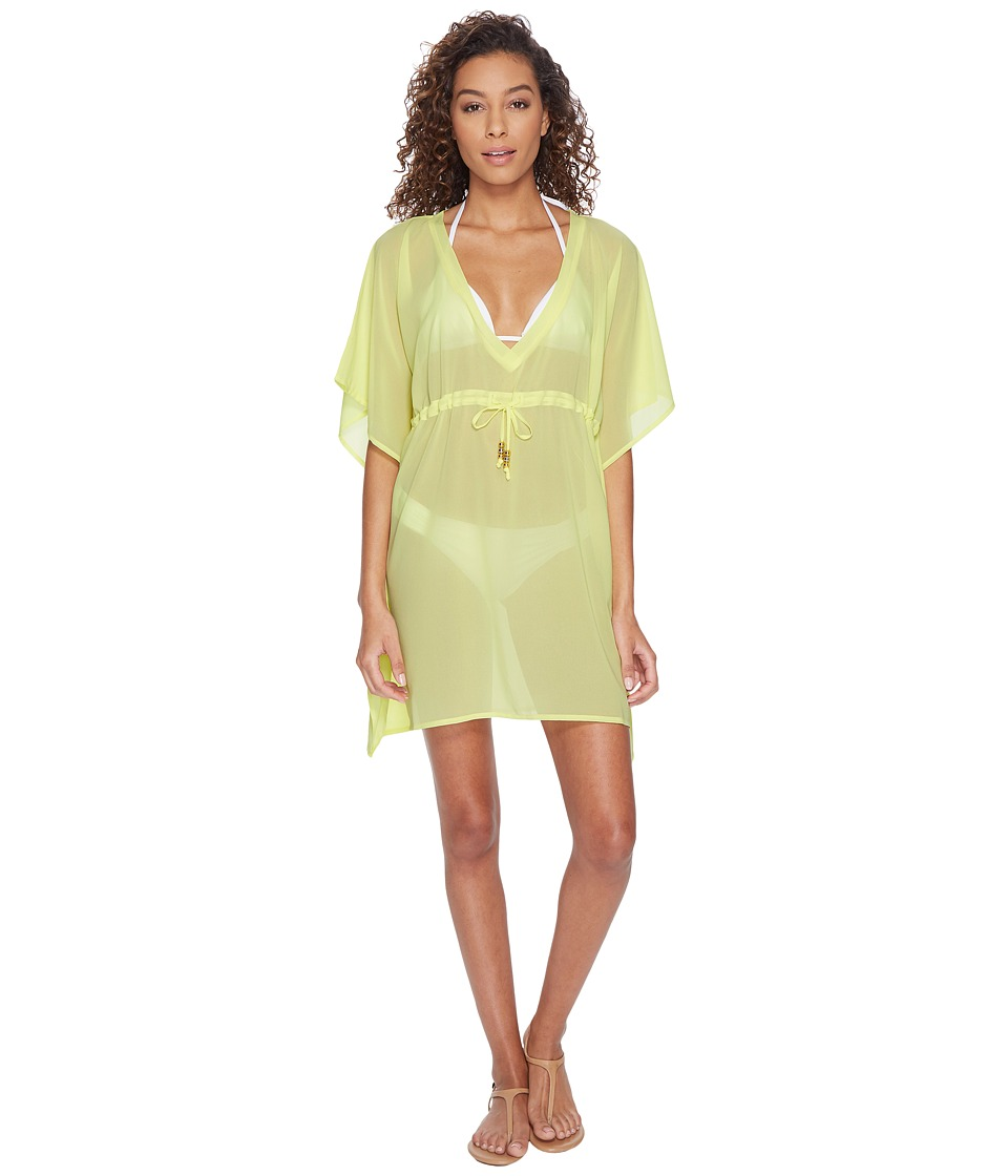 Echo Design Solid Silky Butterfly Swim Cover-Up (Sunny Lime) Women