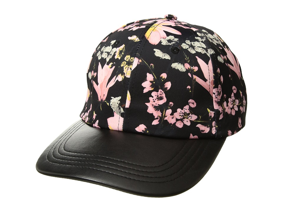 Collection Xiix Silk Floral Baseball Hat with PU Brim (Bl...