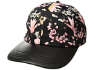 Collection XIIX Silk Floral Baseball Hat with PU Brim