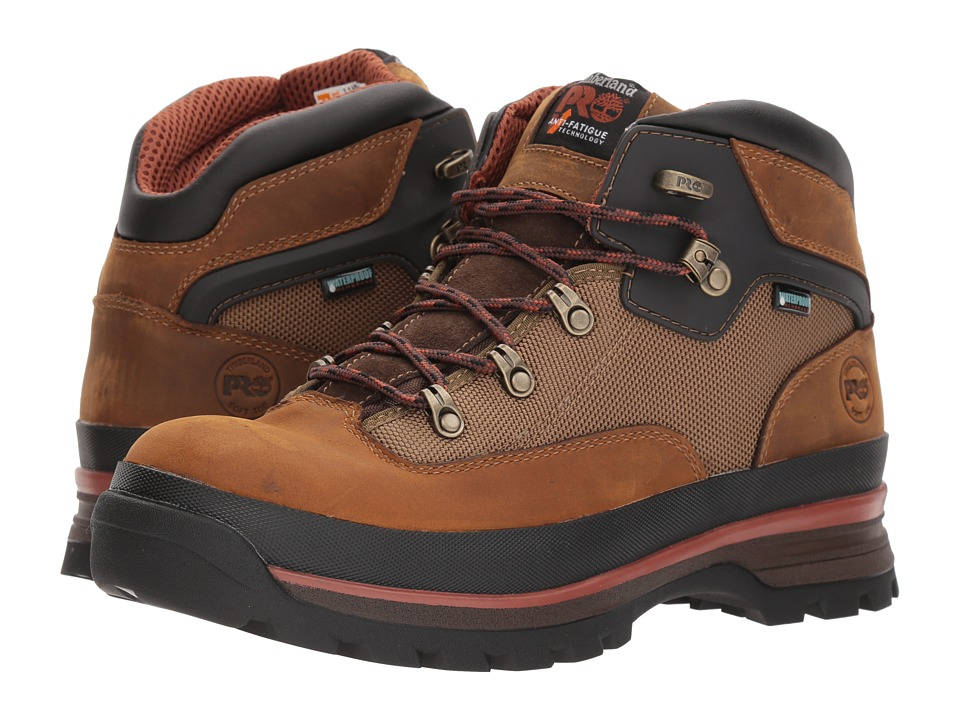 Timberland PRO - Euro Hiker Soft Toe Waterproof (Taupe) Mens Work Lace-up Boots