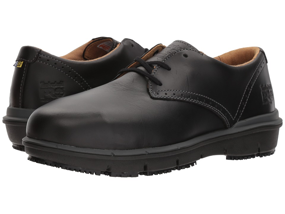 Timberland PRO - Boldon Oxford Alloy Safety Toe SD (Black Full Grain Leather) Mens Lace up casual Shoes