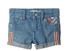 Levi's(r) Kids Embroidered Shorty Shorts (Big Kids)