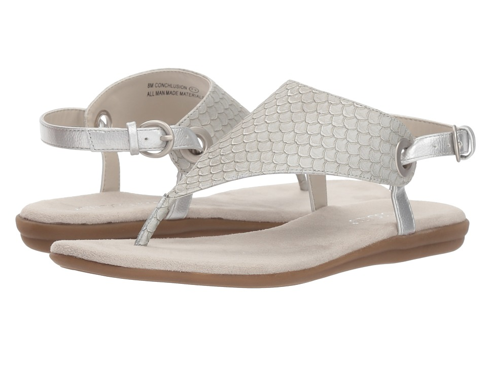 Aerosoles Conchlusion (Silver Snake) Sandals