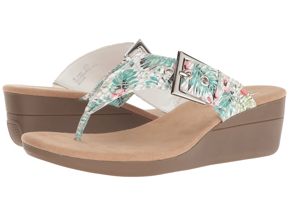 Aerosoles Flower (White Floral) Sandals