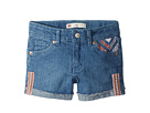 Levi's(r) Kids Embroidered Shorty Shorts (Little Kids)