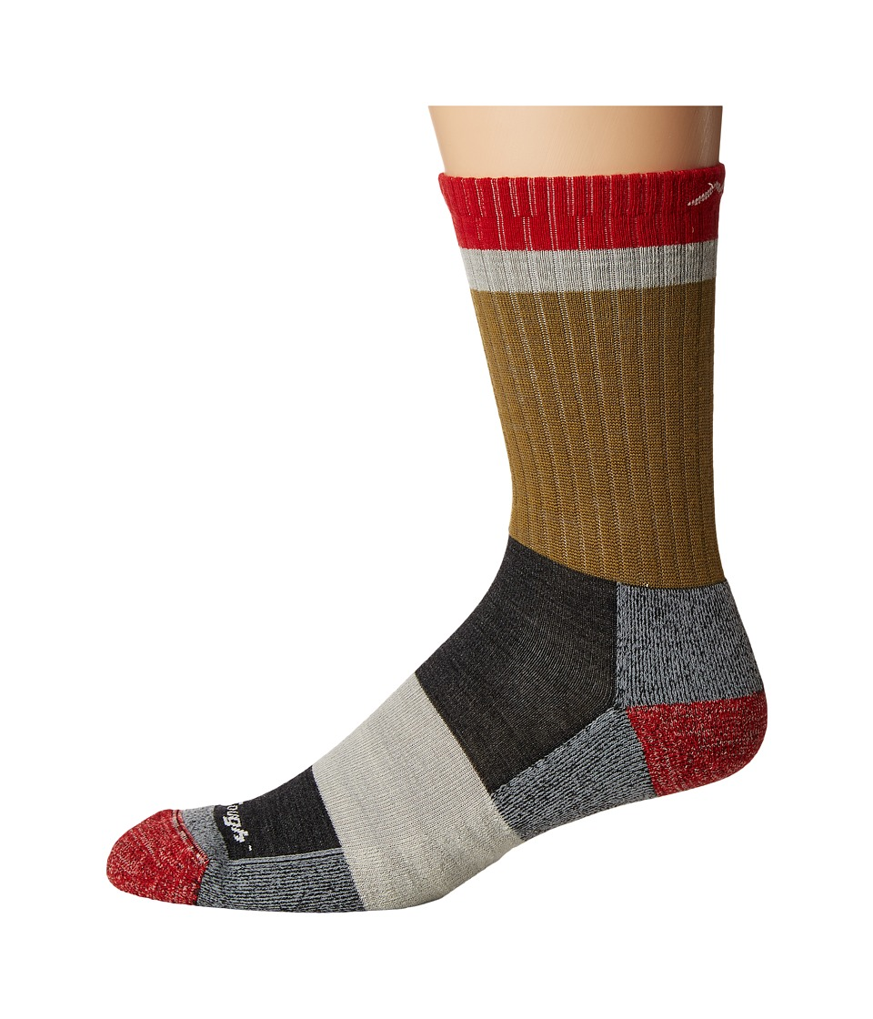 Darn Tough Vermont - Heady Stripe Micro Light Cushion Socks (Ash) Mens Crew Cut Socks Shoes