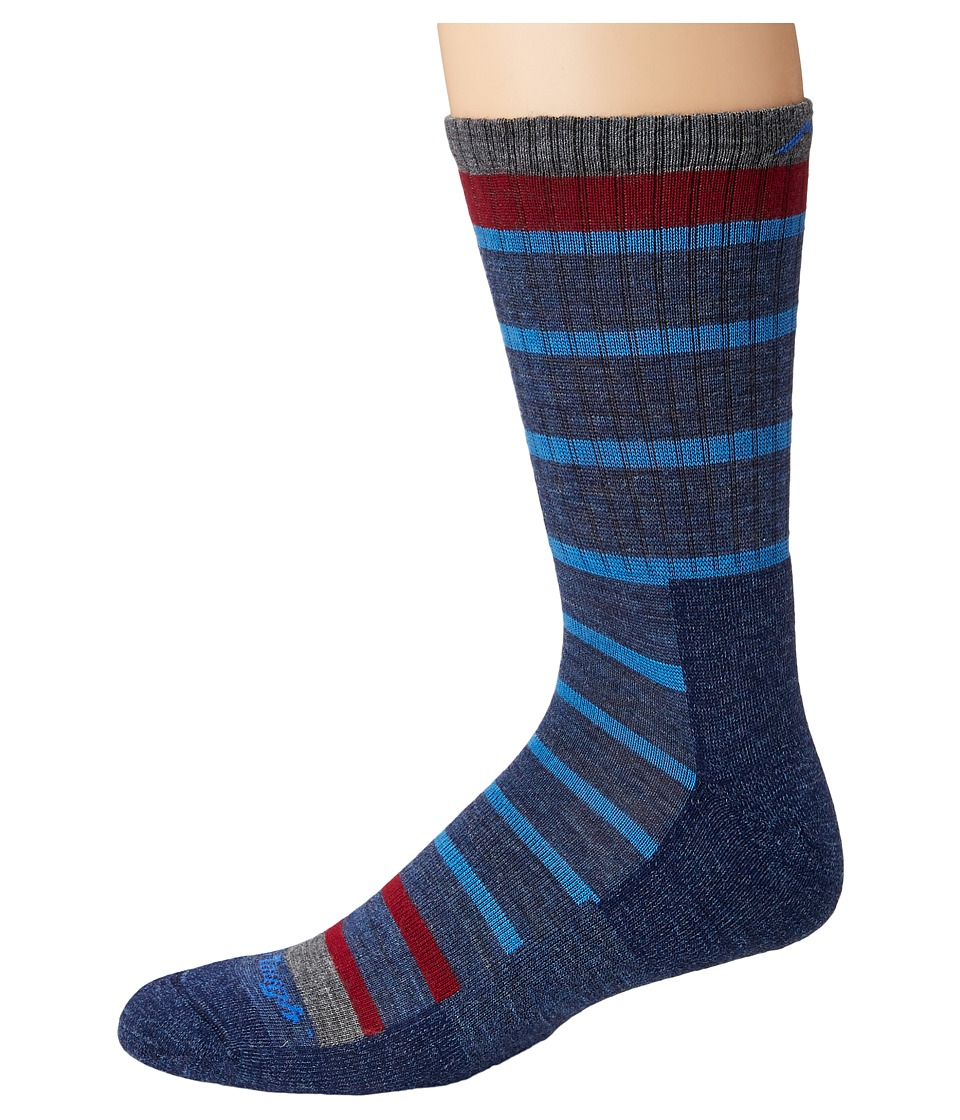 Darn Tough Vermont - Via Ferrata Micro Crew Cushion Socks (Blue) Mens Crew Cut Socks Shoes