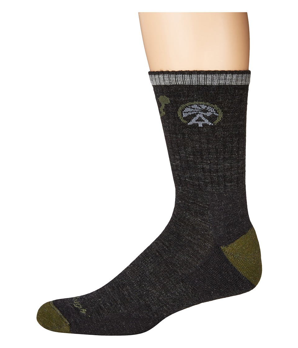 Darn Tough Vermont - ATC Micro Crew Cushion Socks (Charcoal) Mens Crew Cut Socks Shoes
