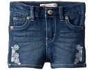 Levi's(r) Kids Embroidered Shorty Shorts (Infant)