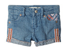 Levi's(r) Kids Embroidered Shorty Shorts (Toddler)