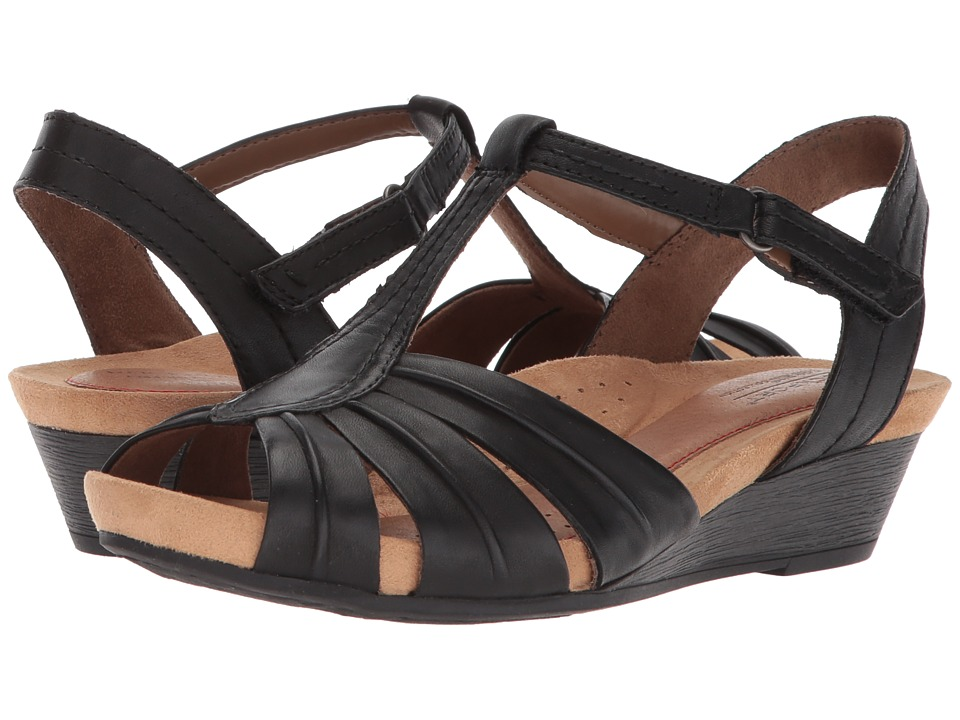 Rockport Cobb Hill Collection - Cobb Hill Hollywood Pleat T (Black Leather) Womens Shoes