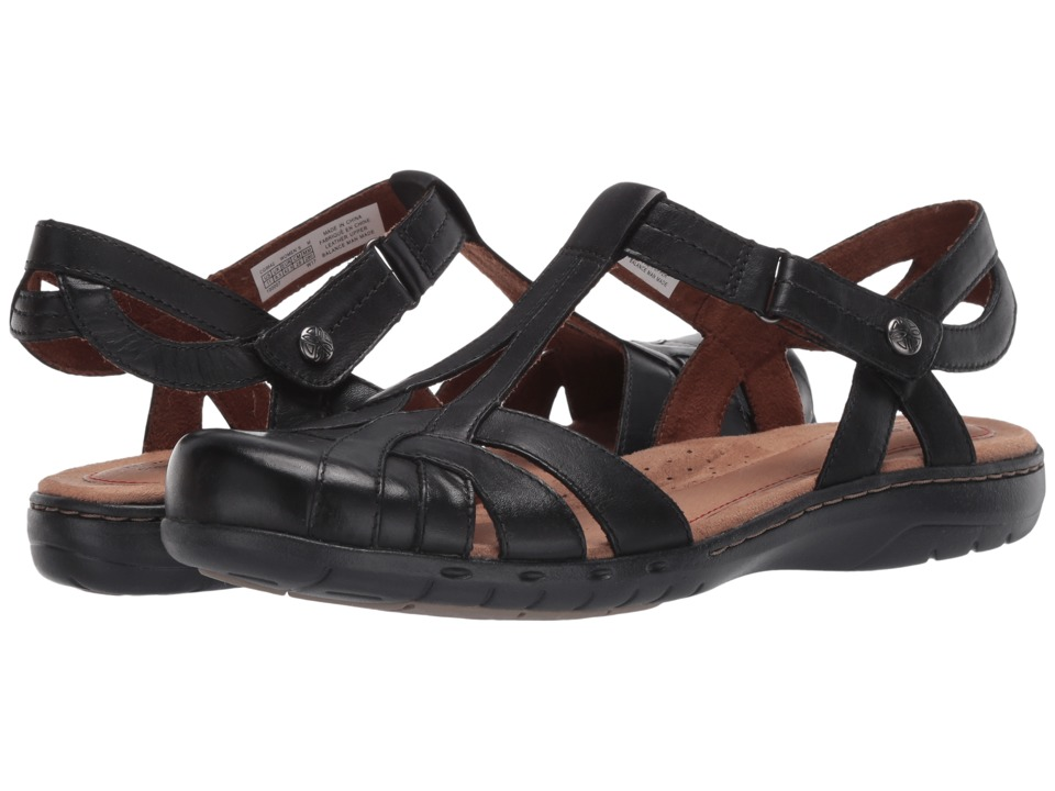Rockport Cobb Hill Collection Cobb Hill Penfield T Sandal (Black Leather) Sandals