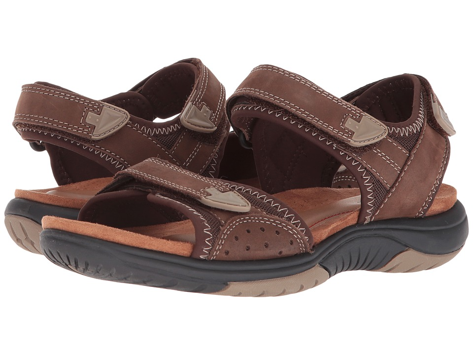 Rockport Franklin Three Strap (Brown) Women's Shoes