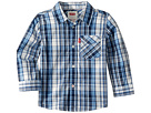 Levi's(r) Kids Long Sleeve One-Pocket Plaid Shirt (Toddler)