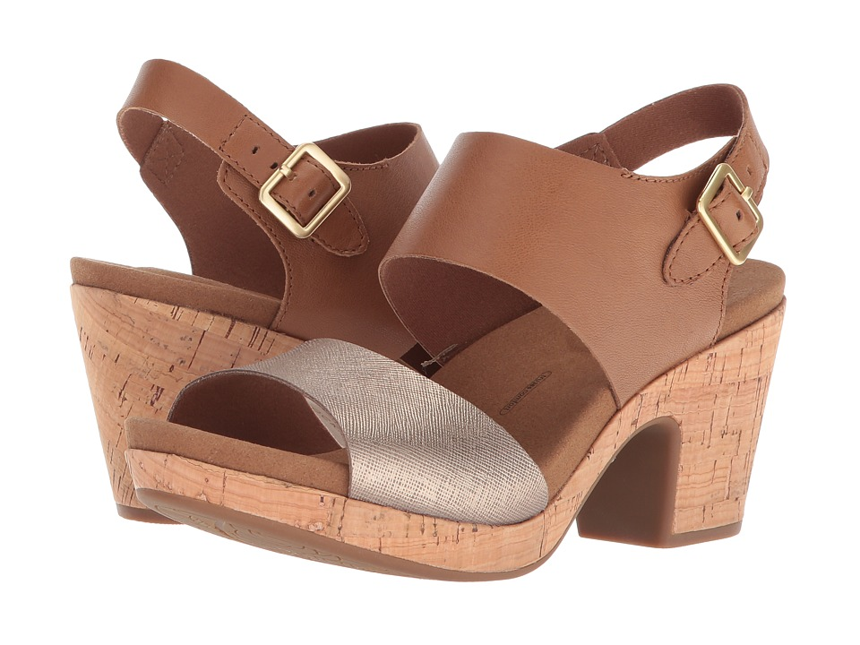 Rockport - Vivianne 2 Part Sandal (Tan Multi) Womens Shoes