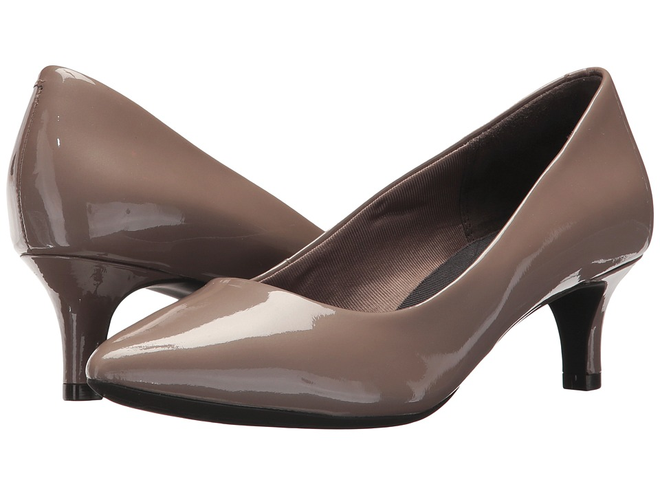 Rockport Total Motion Kalila Pump (Taupe Grey Pearl Patent) High Heels