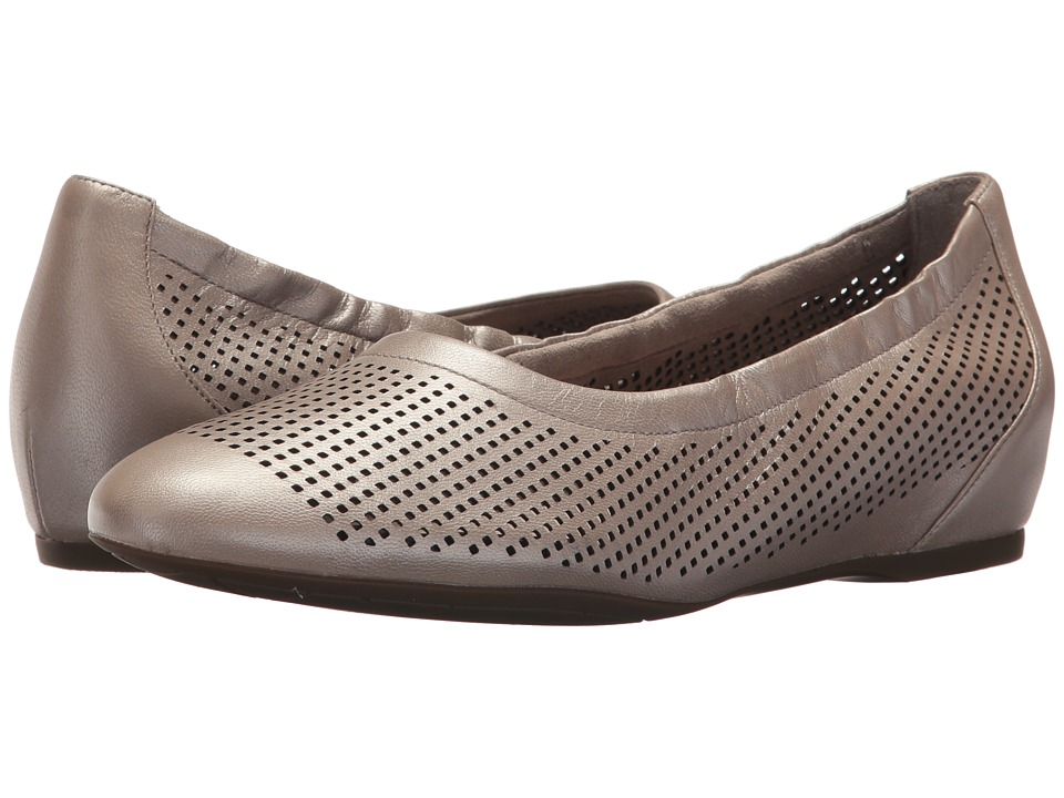 Rockport - Total Motion 20mm Hidden Wedge Luxe Perf Slip-On (Dove) Womens Wedge Shoes