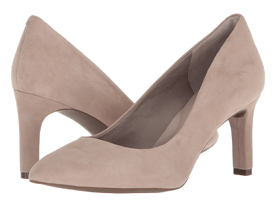 Rockport - Total Motion Valerie Luxe Pump (Dove Suede) Womens Shoes