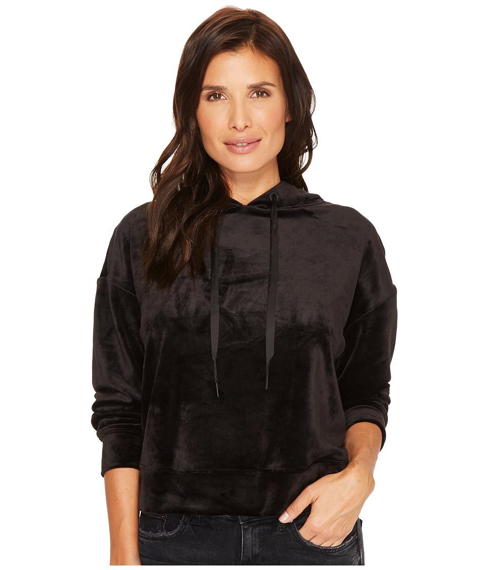 Sanctuary - Melrose Brigade Velour Hoodie Sweatshirt (Black) Womens Sweatshirt