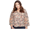 Plus Size Printed Mix Top