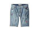 Levi's(r) Kids 511 Slim Fit Destroyed Denim Cut Off Shorts (Big Kids)