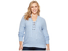 Lucky Brand Plus Size Lace-Up Sweater