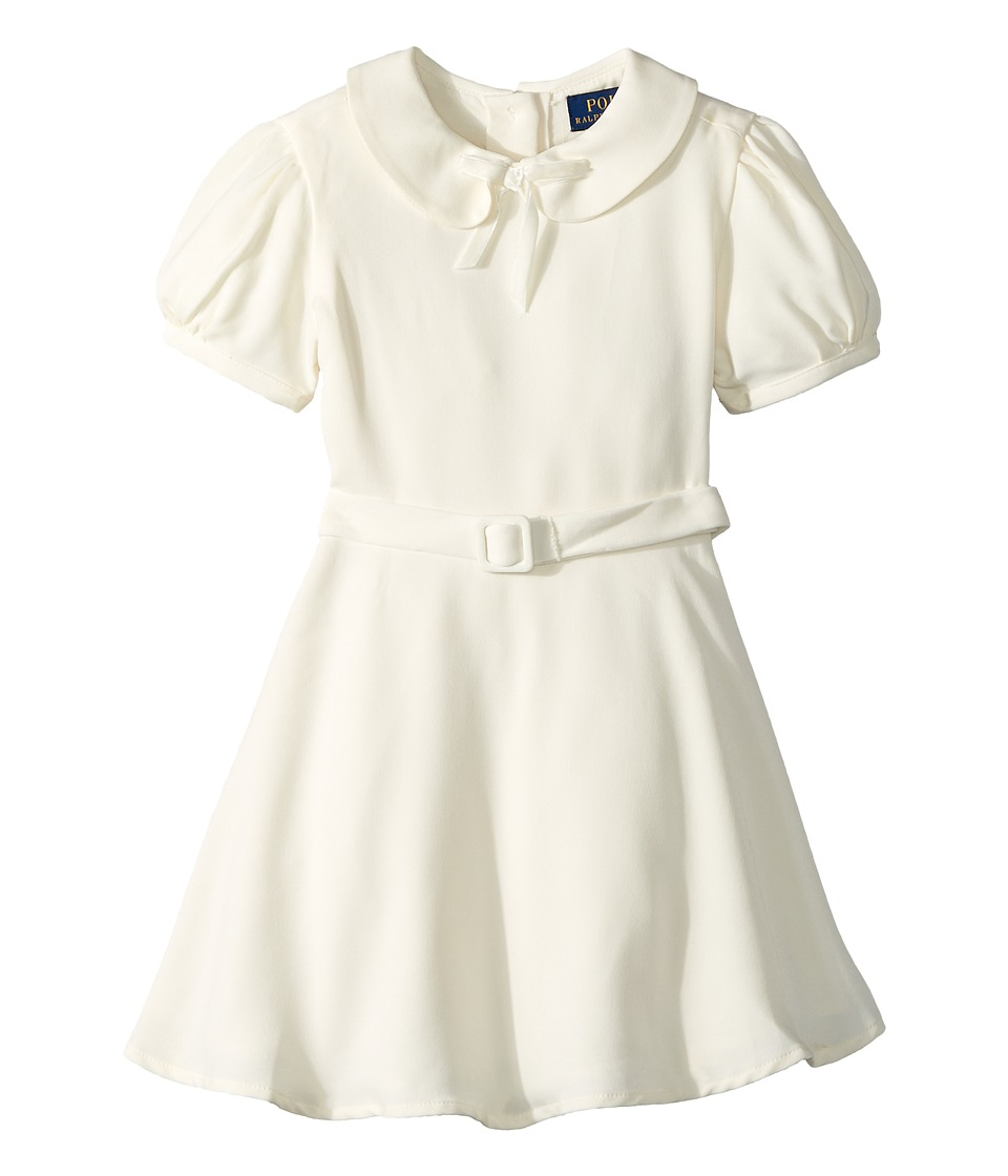 1930s Childrens Fashion: Girls, Boys, Toddler, Baby Costumes Polo Ralph Lauren Kids - Belted Fit-and-Flare Dress Toddler Cream Girls Dress $65.00 AT vintagedancer.com