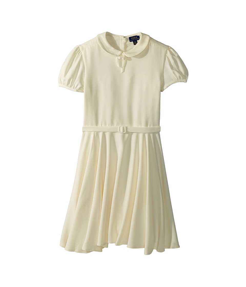 1930s Childrens Fashion: Girls, Boys, Toddler, Baby Costumes Polo Ralph Lauren Kids - Belted Fit-and-Flare Dress Big Kids Cream Girls Dress $69.50 AT vintagedancer.com