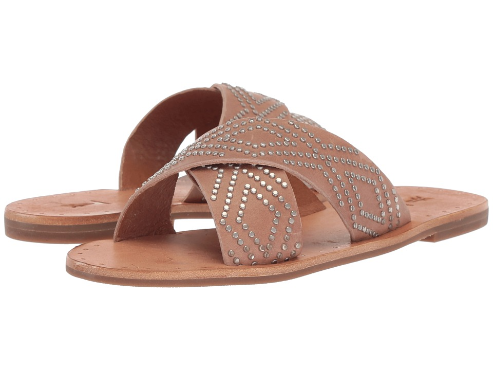 Frye Ally Deco Stud Crisscross (Dusty Rose) Sandals