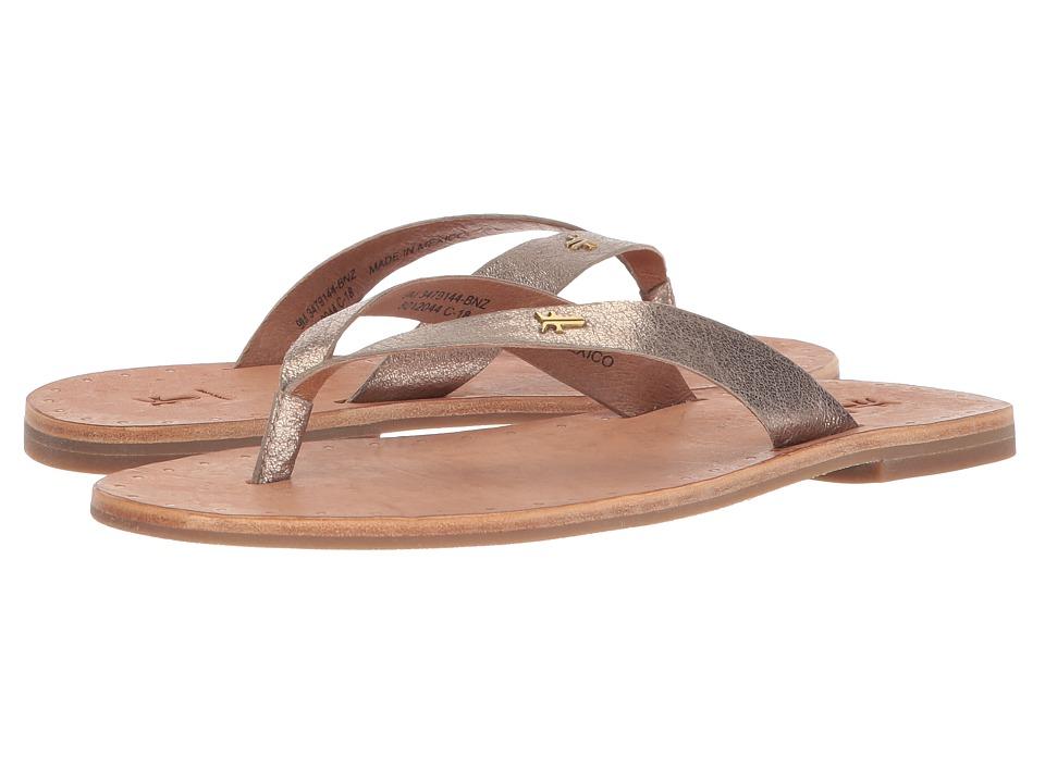 Frye Ally Logo Flip-Flop (Bronze) Sandals