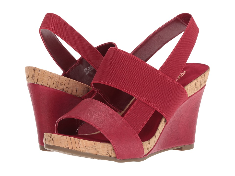 Aerosoles Magnolia Plush (Red) Wedges